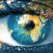 "Planet earth and blue hman eye - ""Elements of this image furnish — Stock Photo #23472352"