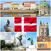 Denmark collage — 图库照片