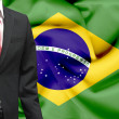 Stock Photo: Businessmfrom Brazil conceptual image