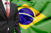 Businessman from Brazil conceptual image — Stock Photo
