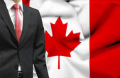 Businessman from Canada conceptual image — Stock Photo