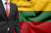 Businessman from Lithuania conceptual image — Stock Photo