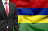 Businessman from Mauritius conceptual image — Stock Photo