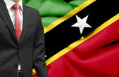 Businessman from St Kitts and Nevis conceptual image — Stock Photo