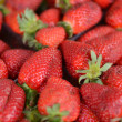Macro shot of fresh strawberries — Stock Photo