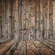 Interior of empty wooden room — Stock Photo