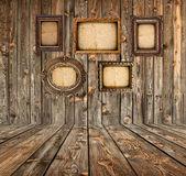 Camera grunge con cornici vuote — Foto Stock
