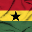Ghana waving flag — Stock Photo