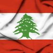 Stock Photo: Lebanon waving flag