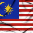Stock Photo: Malaysiwaving flag
