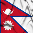 Nepal waving flag — Stockfoto