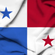 Foto de Stock  : Panamwaving flag
