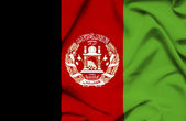 Afghanistan waving flag — Stock Photo