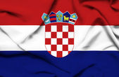 Croatia waving flag — Stock Photo
