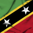 Stock Photo: St Kitts and Nevis waving flag