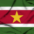 Suriname waving flag — Stock Photo