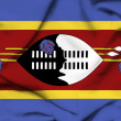 Stock Photo: Swaziland waving flag