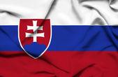 Bandeira de ondulação de eslováquia — Fotografia Stock