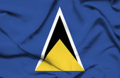 St Lucia waving flag — Stock Photo