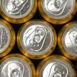 Stock Photo: Abstract vie of cold cans with refreshing drink background