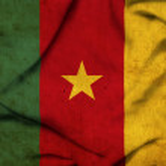 Cameroon waving flag — Stock Photo