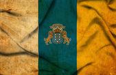 Islas canarias ondeando bandera — Foto de Stock