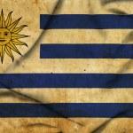 Uruguay waving flag — Stock Photo