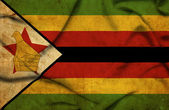 Zimbabwe waving flag — Fotografia Stock