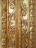 Golden decorative frame detail background — Stock Photo