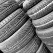 Tyres background — Stock Photo