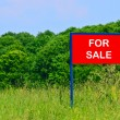 Land for sale concept — Stock Photo