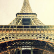 Stock Photo: Eiffel tower vintage image