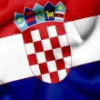 Croatia waving flag - Stock Photo