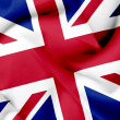 Stock Photo: Great Britain waving flag