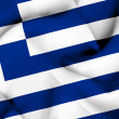 Stock Photo: Greece waving flag