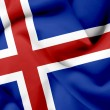 Stock Photo: Iceland waving flag