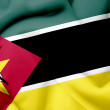 Mozambique waving flag — Stock Photo