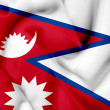 Nepal waving flag — Stock Photo #26500993