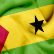 Stock Photo: Sao Tome and Principe waving flag