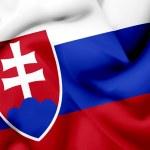 Slovakia waving flag — Stock Photo