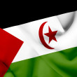 Western Sahara waving flag — Stock Photo