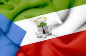äquatorial-guinea waving flag — Stockfoto