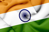 India waving flag — Stock Photo
