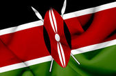 Kenya waving flag — Stock Photo