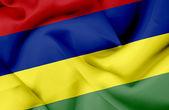 Mauritius waving flag — Stock Photo