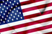 United States of America waving flag — Stock Photo