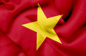 Vietnam waving flag — Stock Photo