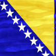 Stock Photo: Painted flag of Bosniand Herzegovina