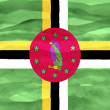 Stock Photo: Painted flag of Dominica
