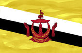 Painted flag of Brunei — Stock Photo